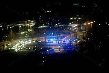 Polizei Kreuzung Nachts