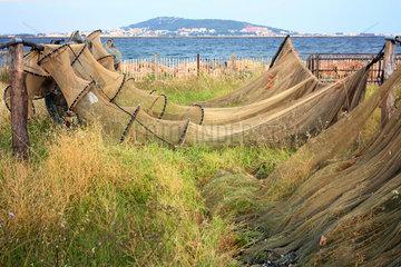 Fischernetze  Mèze  Frankreich
