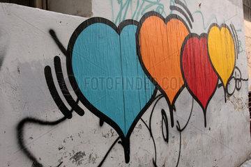 Bunte Herz in Rom