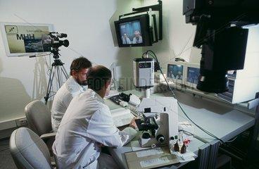 Videokonferenz im Krankenhaus