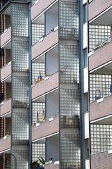 2010  hausfassade eines 50er jahre hauses in berlin