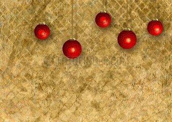 Weihnachten Christbaumkugel Goldmosaik