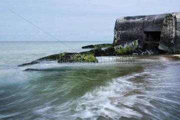 Bunkeranlage am Strand von Wissant  Nord-Pas-de-Calais  France