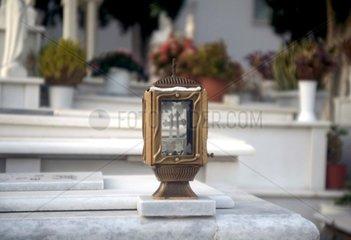 Serie Griechenland Friedhof Grablicht Naxos