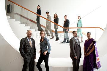 Freiburg  Deutschland  ein internationales Businessteam