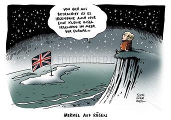 Kanzlerin Merkel haelt EU-Austritt der Briten fuer moeglich