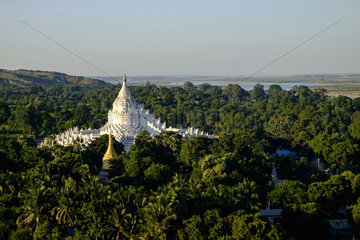 Pagoda (paya) of Hsinbyume  dated 19th century  Mingun  around Mandalay  Myanmar (Burma)  Asia
