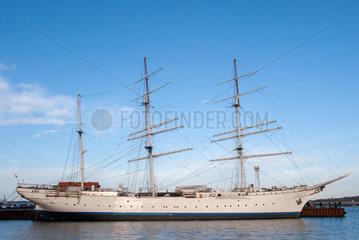Stralsund  Deutschland  das ehemalige Segelschulschiff Gorch Fock I im Hafen
