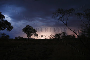 Tom Price  Australien  Waermegewitter und Blitze im Karijini Nationalpark