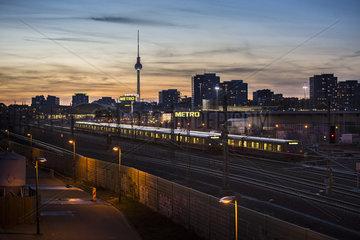 Stadtansicht Berlin am Abend