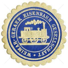 Papiersiegel Eisenbahngesellschaft  1880