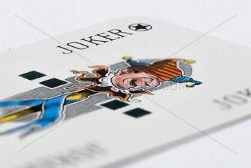 Jokerkarte eines Skatspiels