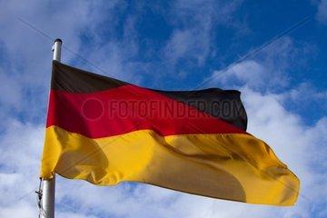 flatternde Deutschlandfahne