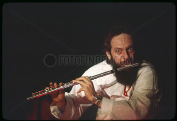 Ian Anderson  Flute Player and singer of Jethro Tull.