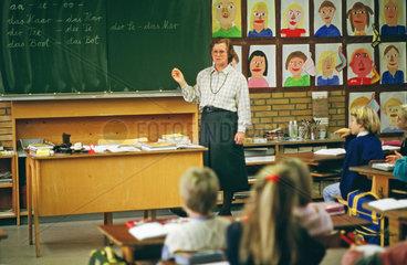 Rechtschreibunterricht an einer Grundschule