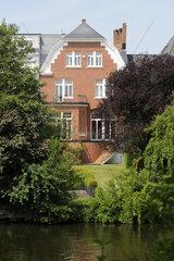 Aussenansicht eines herrschaftlichen Anwesens in Hamburg  Deutschland
