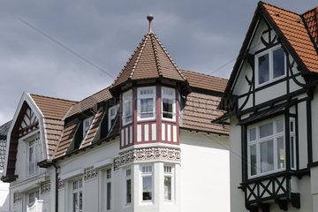 Aussenansicht einer Villa in Hamburg  Deutschland