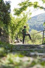 Wandern auf dem Philosophenweg in Heidelberg