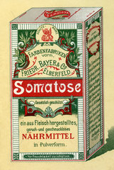 Somatose  Naehrmittel  spaetere Bayer AG  1898
