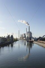 Grosskraftwerk Mannheim am Rhein