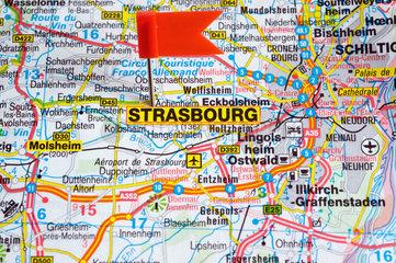 Berlin  Deutschland  das Reiseziel ist Strassburg