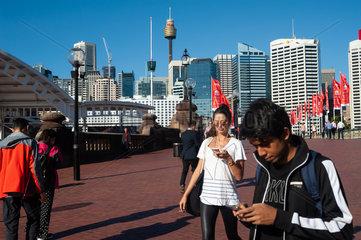Sydney  Australien  Stadtansicht des Geschaeftsviertels