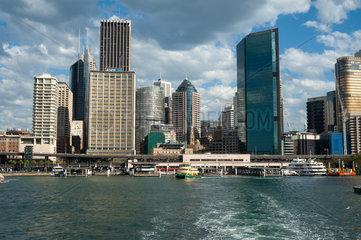 Sydney  Australien  Stadtansicht mit Circular Quay