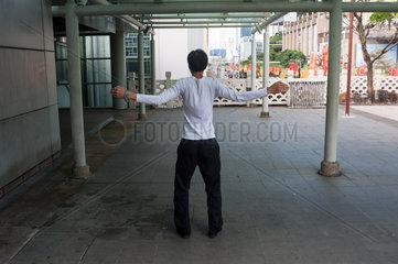 Republik Singapur  Uebungen in Chinatown