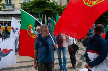 Lissabon  Portugal  Protest gegen Masseneinwanderung