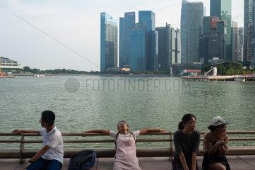 Republik Singapur  Toursiten in Marina Bay