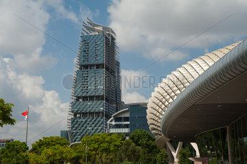 Republik Singapur  Vorplatz am Esplanade-Theater