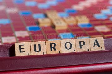 Hamburg  Deutschland  Scrabble-Buchstaben bilden das Wort EUROPA