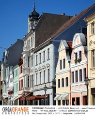 cottbus  germany  altmarkt  with historical houses