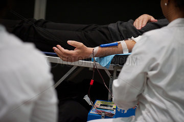 Person donating blood  cropped
