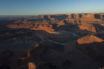 Scenic view of Dead Horse Point and Canyonlands National Park in Utah  USA