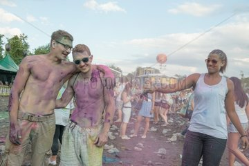 Citizens at Holi Festival of Colours