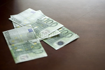 One-hundred euro banknotes