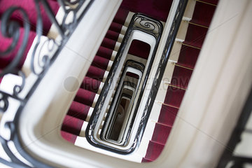 Spiral staircase  directly above