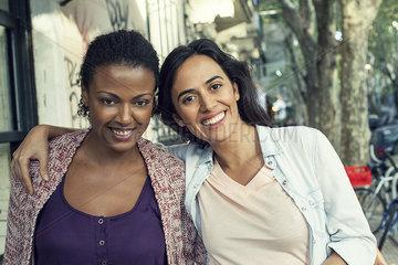 Female friends  portrait