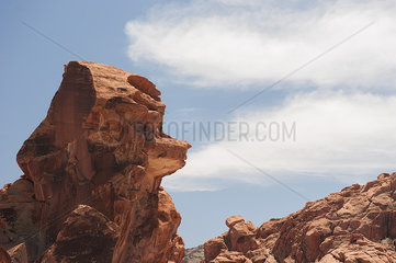 Rock formation in Valley of Fire State Park  Nevada  USA