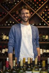 Bartender in wine bar  portrait