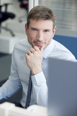 Businessman at work  portrait