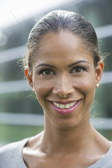 Woman smiling  portrait