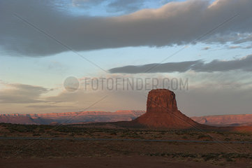 Merrick Butten in Monument Valley  Utah  USA