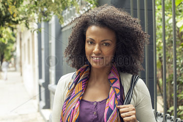 Woman with curly hair  portrait