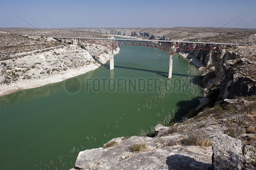 The Pecos River High Bridge over the Pecos River in Texas  USA