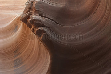 Swirled patterns on sandstone created by erosion