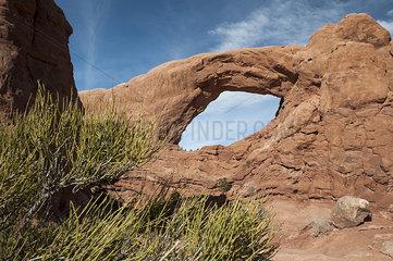 Skyline Arch  Arches National Park  Utah  USA