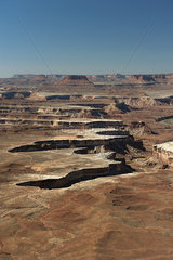 Scenic view of Canyonlands National Park in Utah  USA
