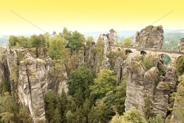 elbe sandstone mountains in germany